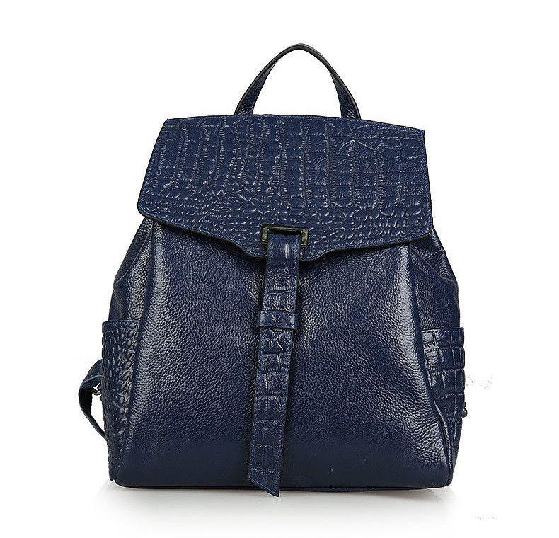 Danjue New Arrival Genuine Leather Women Backpack Solid Color Pattern Designer Student School Bags Fashion Las Laptop Bag