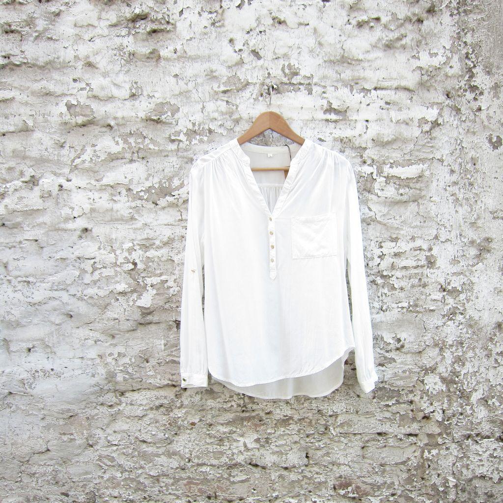 Blusa de algodón botones dorados — Jacinta Tienda
