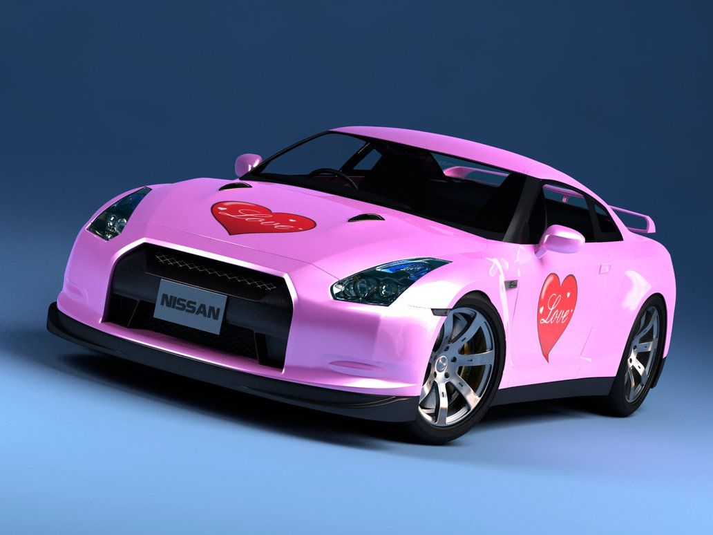 Pink And Mat Black Nissan GTR Even Matches On The Inside | Things I Like |  Pinterest | Nissan, Cars And Sexy Cars
