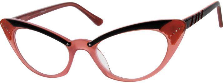 Red Acetate Full-Rim Frame #665918 | Zenni Optical Eyeglasses | Cat ...