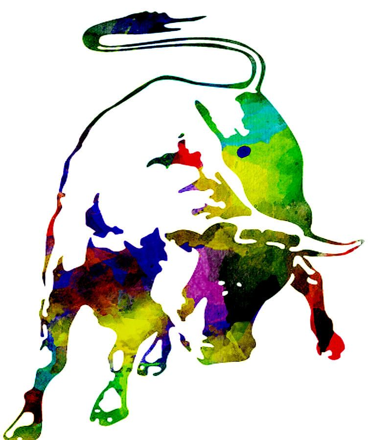 lamborghini bull emblem colorful abstract - Real Lamborghini Bull