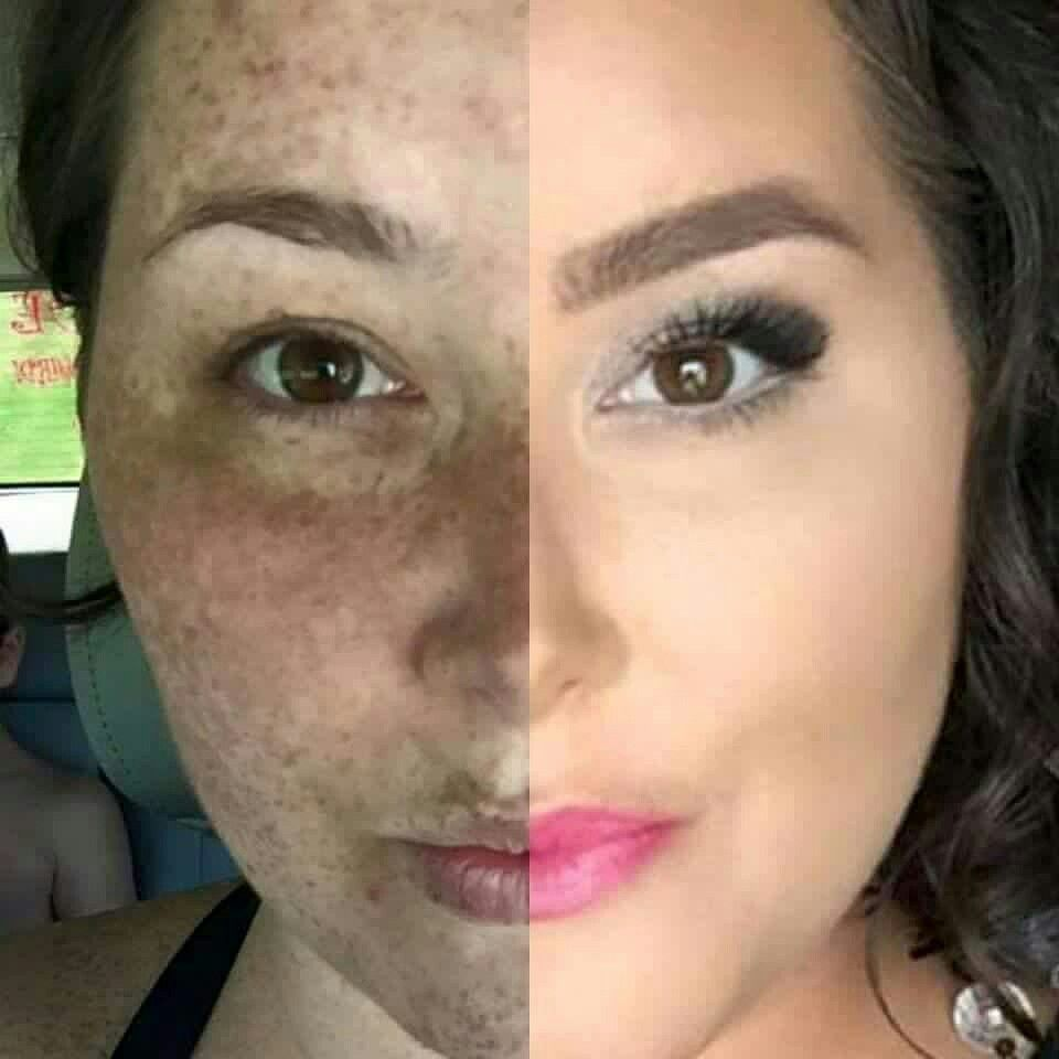 Omg Look At This Amazing Difference Primer Liquid Foundation