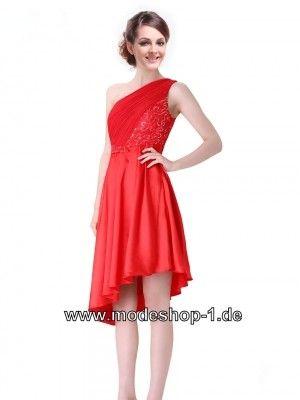 Rotes Asymmetrisches One Shoulder Abendkleid | Rote Kleider online ...