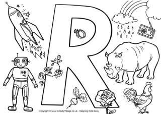 I Spy Alphabet Colouring Page R Alphabet Coloring Pages Alphabet Coloring Preschool Kids