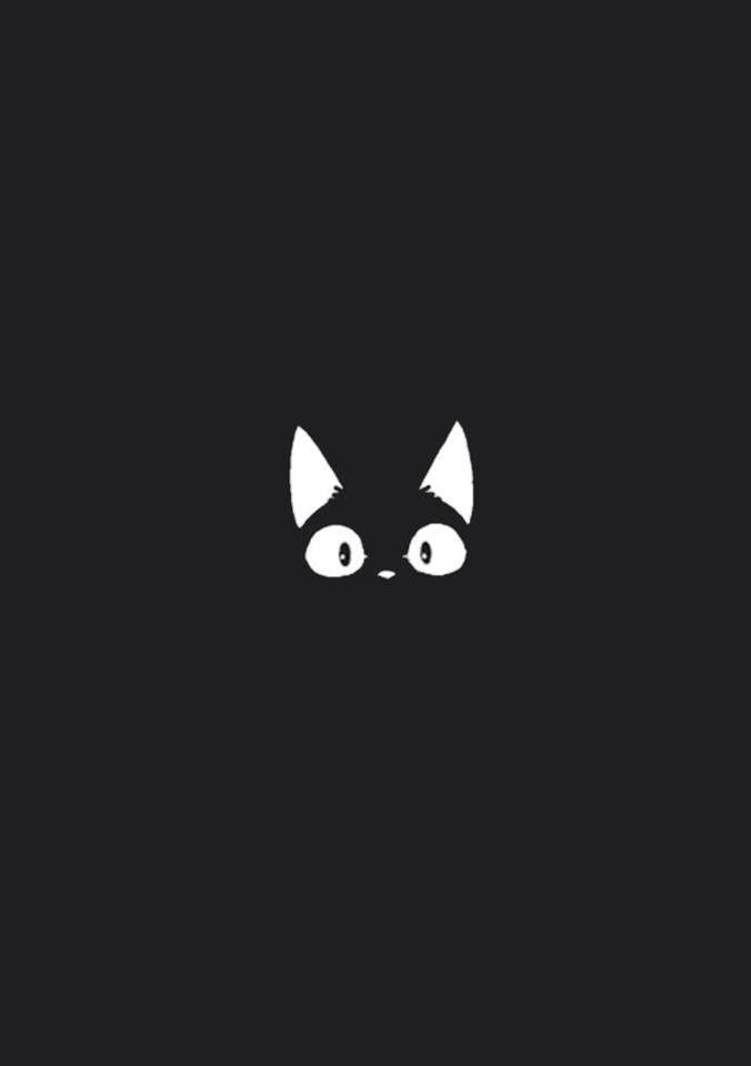 I Like The Cat Black Illustration Night Illustrations Toilet