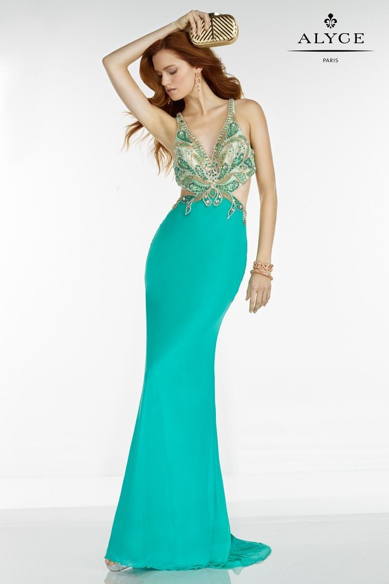 alyce paris 6524 prom dress | rückenfreies ballkleid