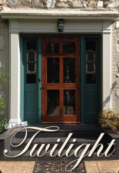 Solid Wood Storm Doors, Wooden Storm Door by Vintage Doors - YesterYear's  Vintage Doors - Regal T-Bar Wood Swinging 6-Panel Glass Storm Door 36...I Think