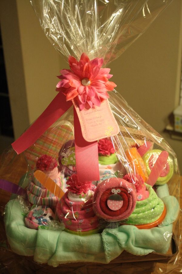 gift basket wrapped