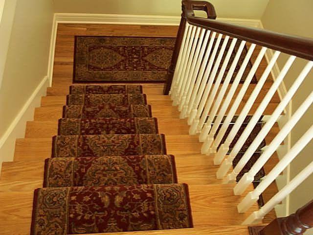 Oriental Stair Runner With Matching Landing Runner Not Connected   Oriental Carpet Runners For Stairs   Wall Carpet   Stuart Street   Salem Ma   Hallway Carpet   Boston Ma