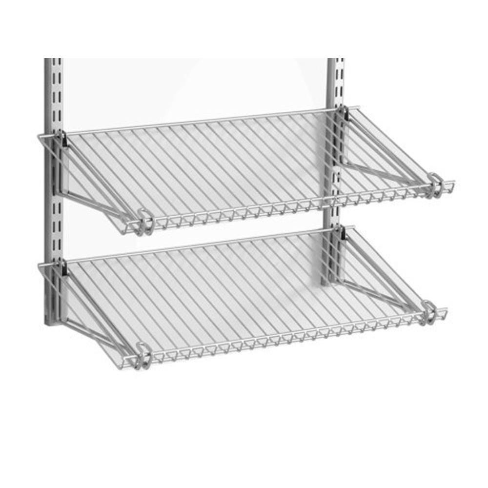 Configurations Closet System Dual 26 In. Shoe Shelf Kit, Satin Nickel