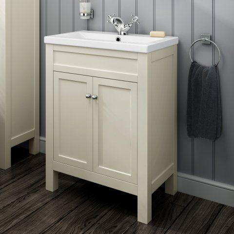 600mm melbourne clotted door floor standing vanity