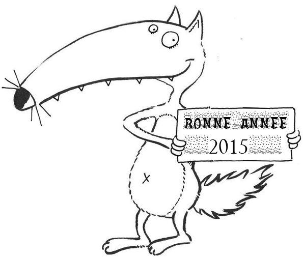 bonne année 2015 loup auzou | Lupo, Lupetti, Immagini