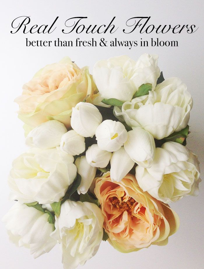 Real touch faux flowers look and feel like the real thing - only ...