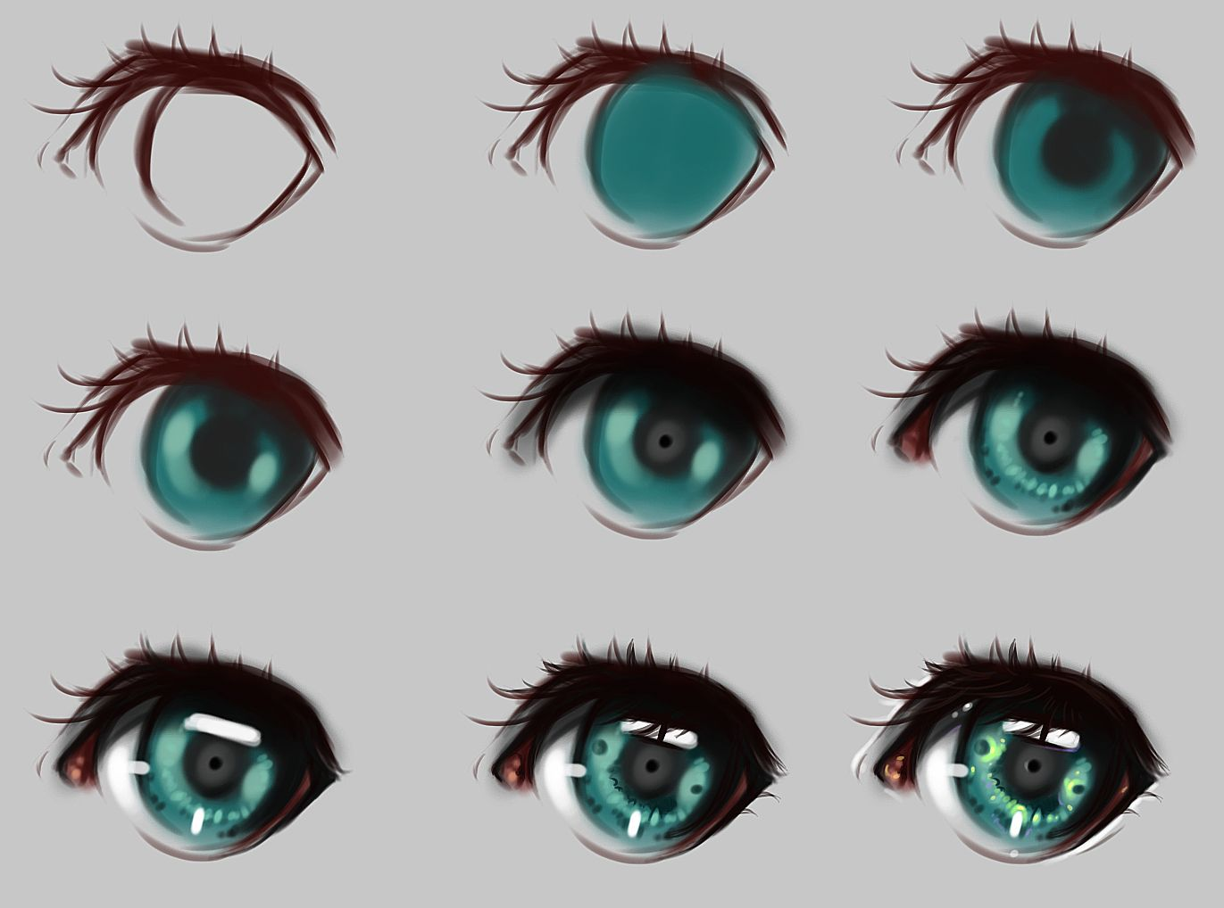 Eyes Step By Step By Ryky On Deviantart Art Tutorials Digital Art Tutorial Art Techniques