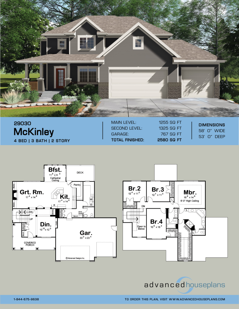 2 Story Traditional House Plan Mckinley 2 Story Traditional House Plan Mckinley House Kitchens M In 2020 With Images Southern House Plans House Plans House Blueprints