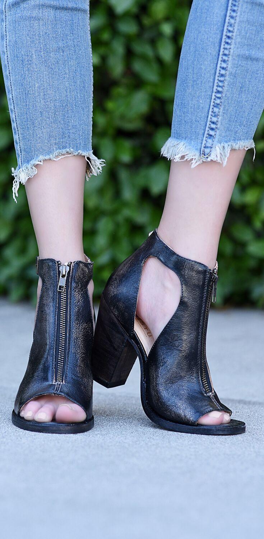 OLENA   Heels, Boots, Black leather heels