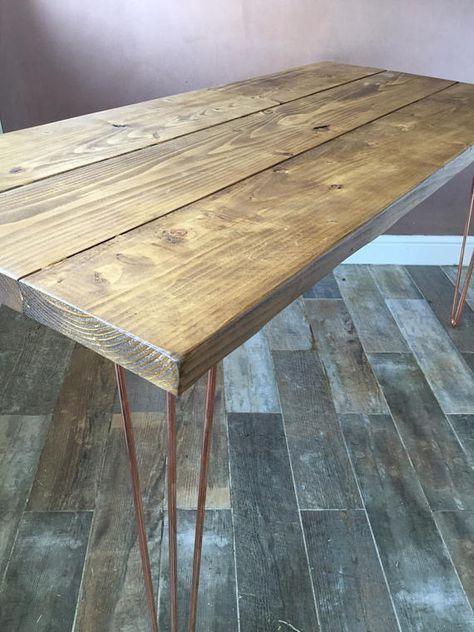 Hairpin Leg Table, Hairpin Dining Table, Hairpin Desk, Kitchen table ...