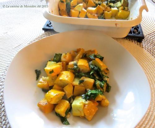 Courge musquée aux épices et au cheddar  de Messidor - Ce petit plat bien relevé rend un vibrant hommage à la courge musquée, à sa belle couleur orange et à sa chair tendre. Il fait un dîner lége...