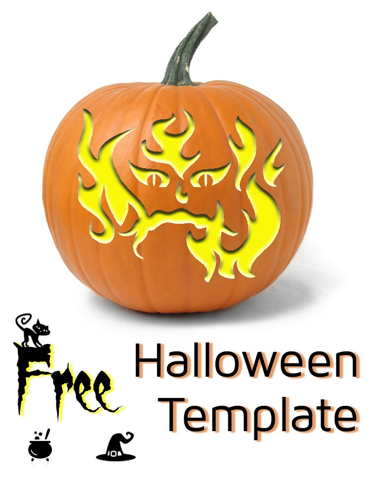 Itu0027s time to start carving pumpkins Printable Fire Face templates - printable face templates