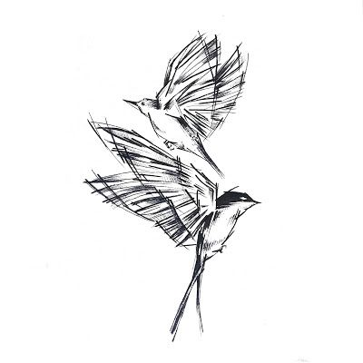 Birds Tattoo Design By Rysaatattoo Tattoodesign Tattoo Design Sketch Sketchstyle Project Tattooproject Lin Tatuagens Novas Desenhos Para Tatuagem Tatoo
