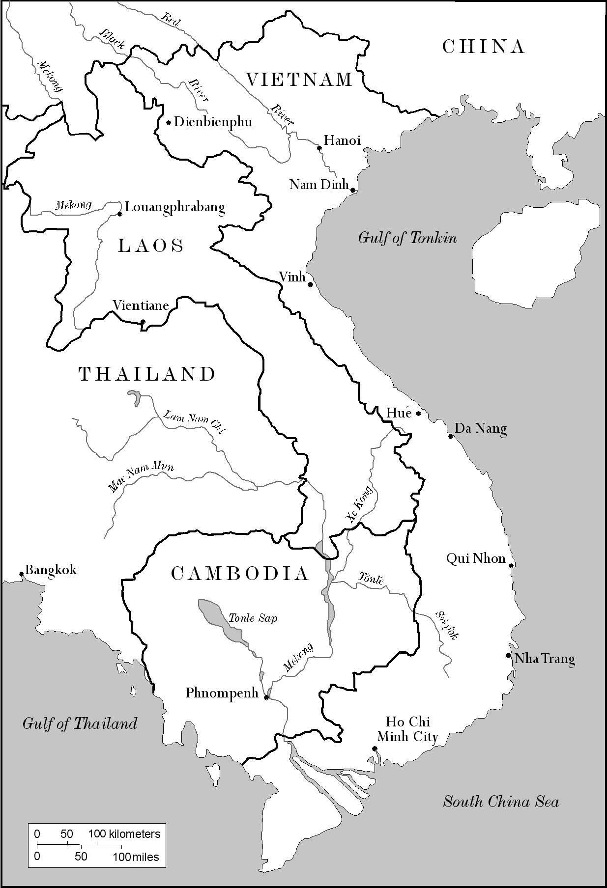 Indochina Vietnam Map Vietnam