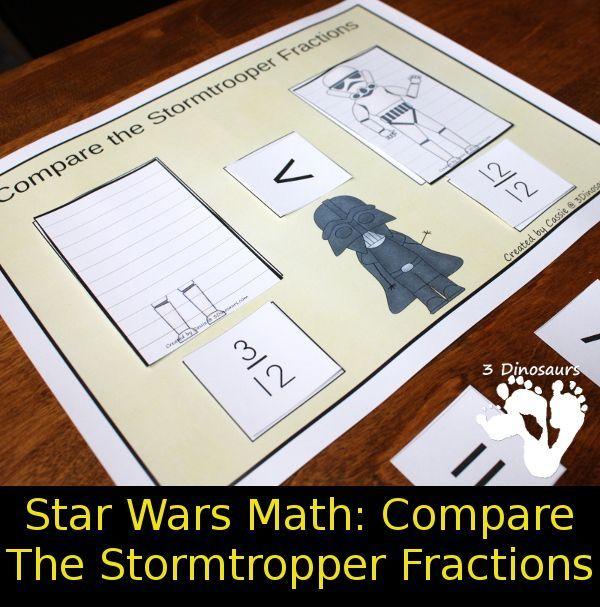 Star Wars Math: Comparing Stormtrooper Fractions - a hands math ...