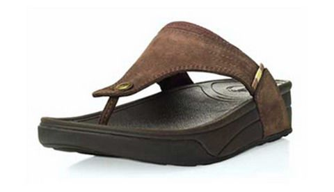 Mens Fitflop Dass Sandal Chocolate