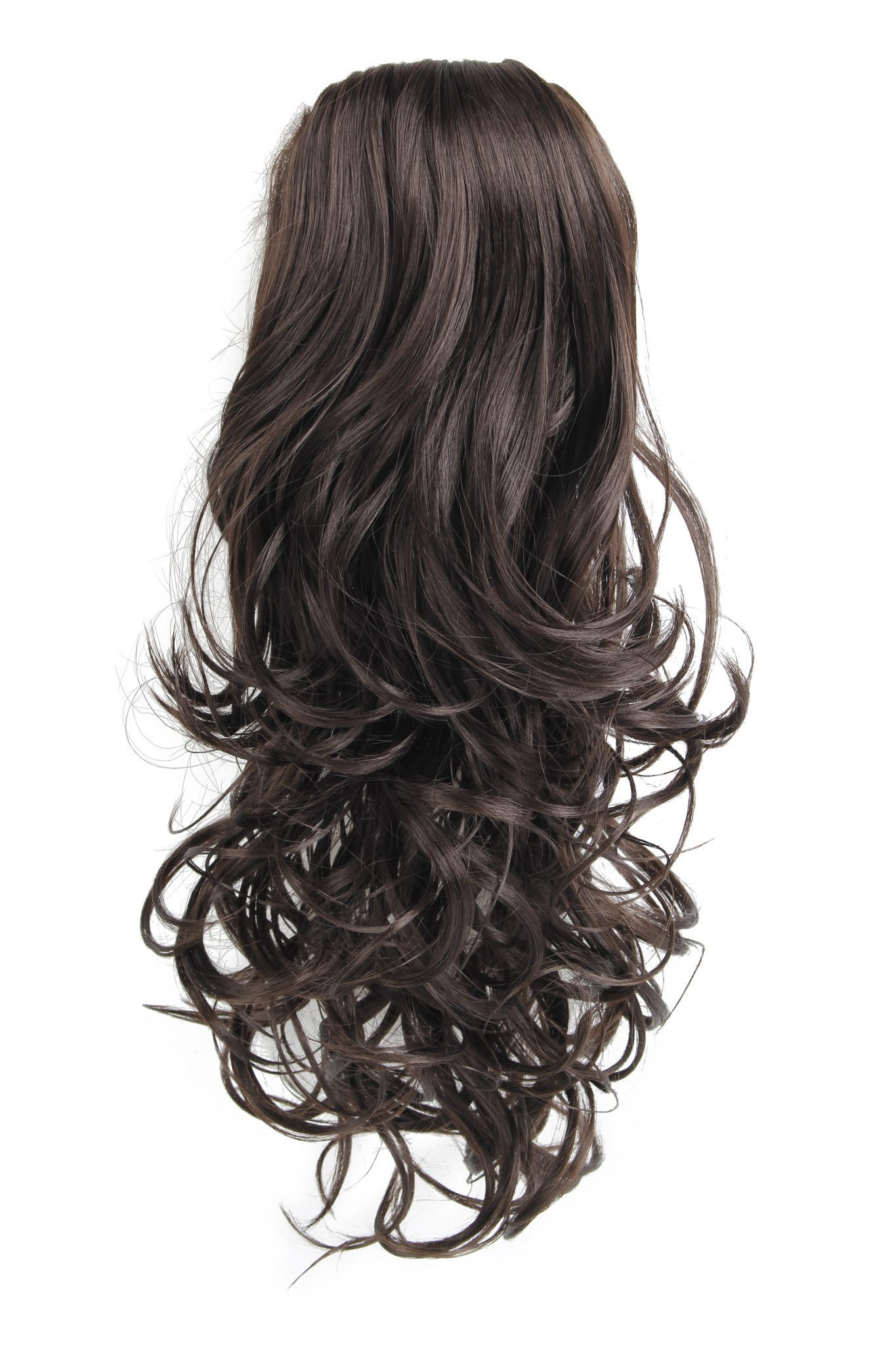 16 Inch Curly Ponytail Hair Extensions With Comb And Drawstring Hair