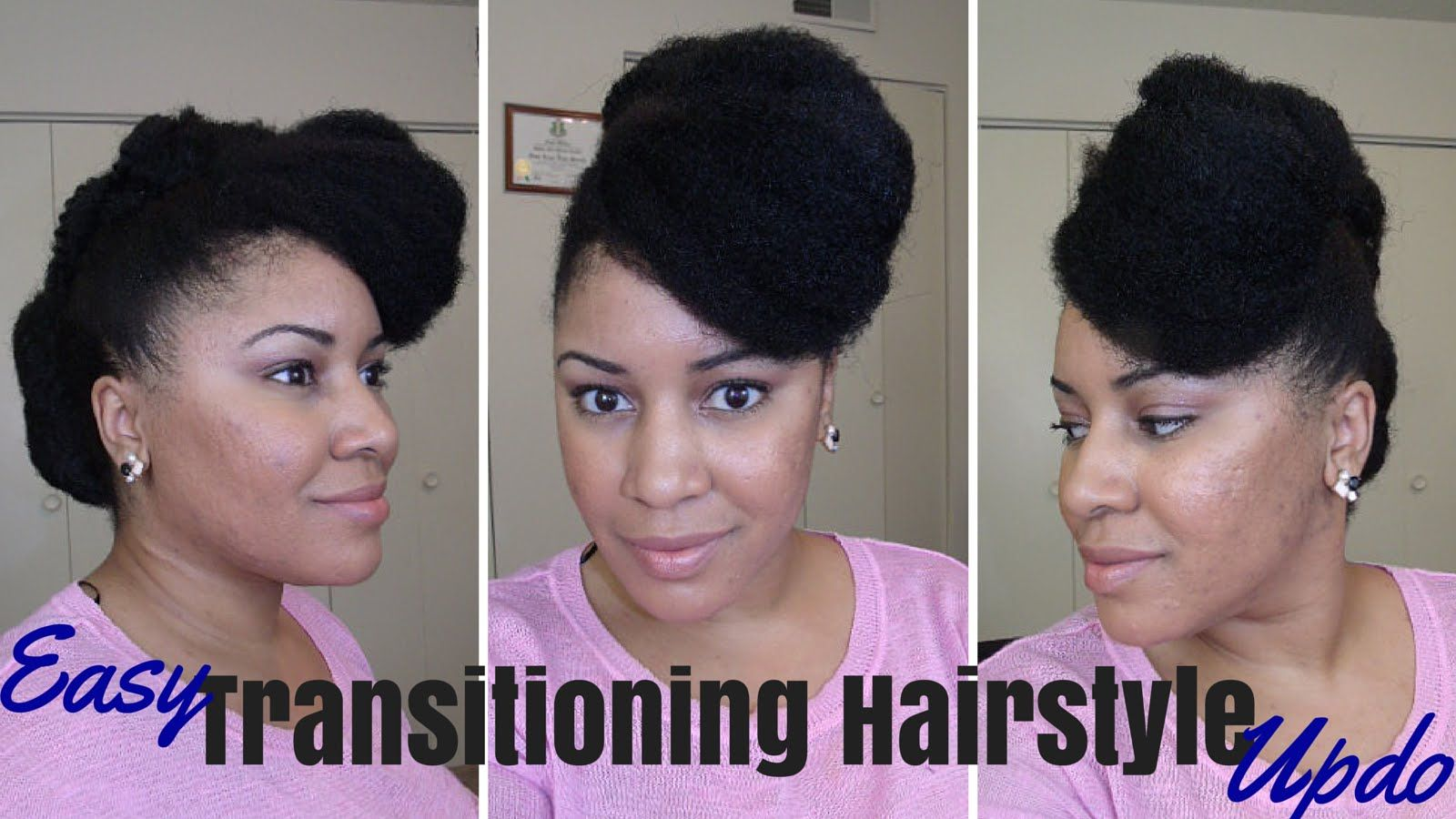 Easy transitioning hairstyle tutorial great for natural u relaxed