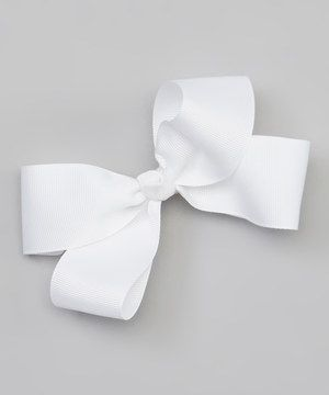 Look at this #zulilyfind! The Bow Band White Bow Barrette Clip by The Bow Band #zulilyfinds