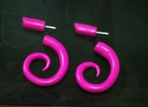 Polymer Clay Spiral Earrings
