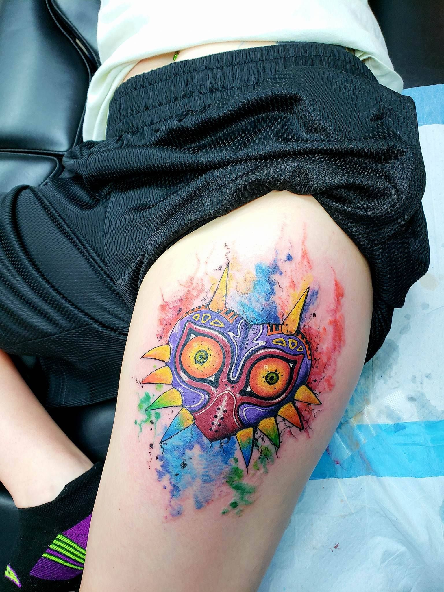 My Majoras Mask Tattoo The Artist Cameron Is Phenomenal In His