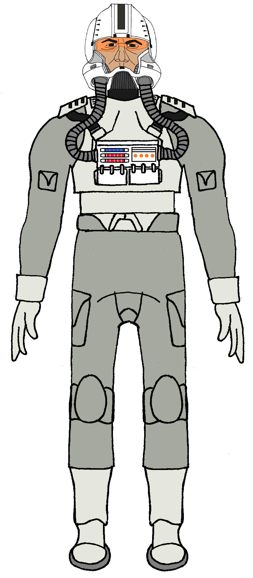 Clone Trooper Pilot 22nd Air Combat Wing Soldados Clon Soldados Star Wars