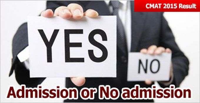 CMAT 2015, coming out with flying colours after declaration of CMAT result on March 25, 2015 are still in a dilemma whether to go for admission or postpone it for another session.