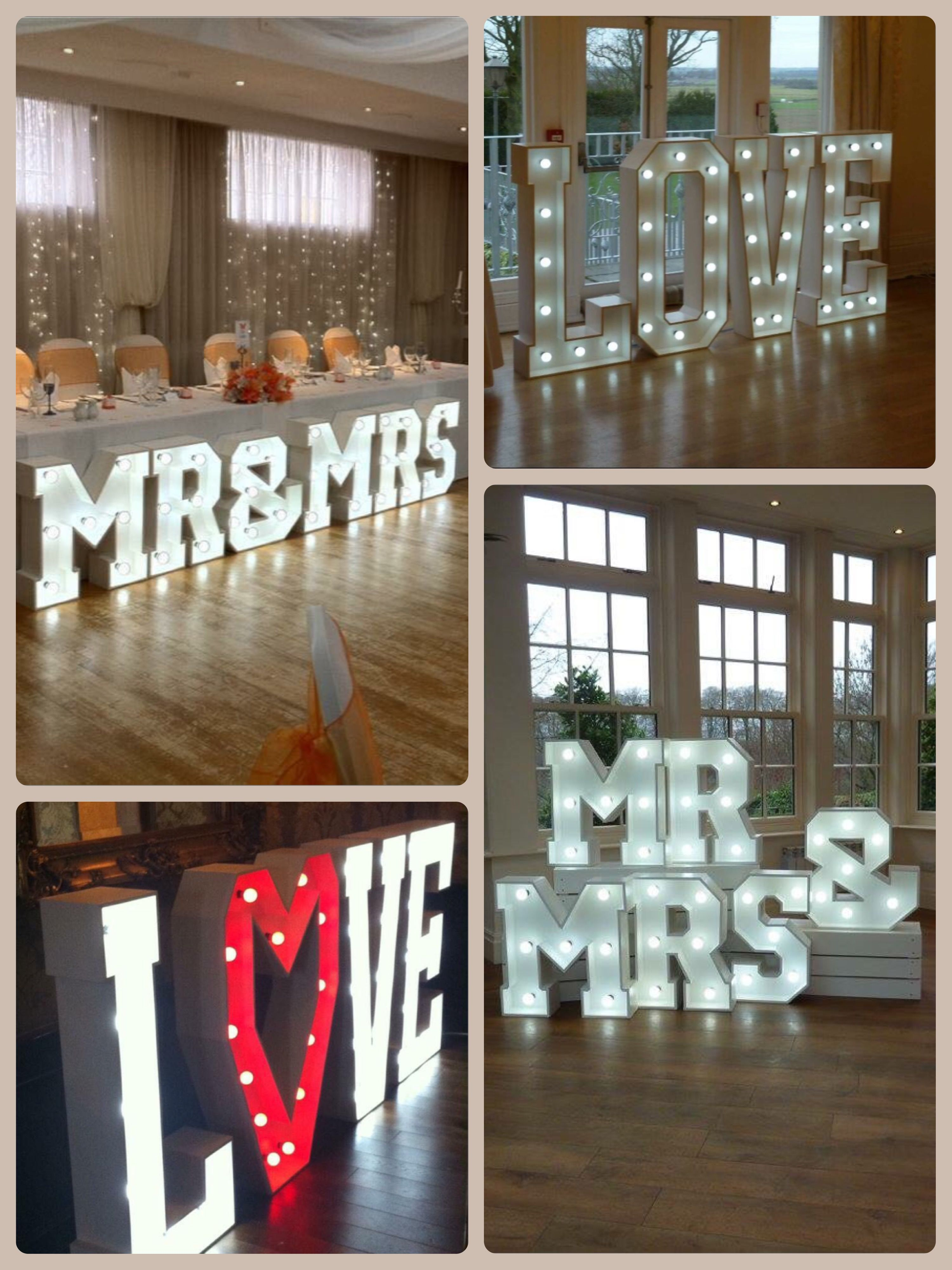 Wow Your Guests With These Illuminated Large Light Up Letters Available To Hire For Weddings Engagement Light Letters Light Up Letters Large Light Up Letters