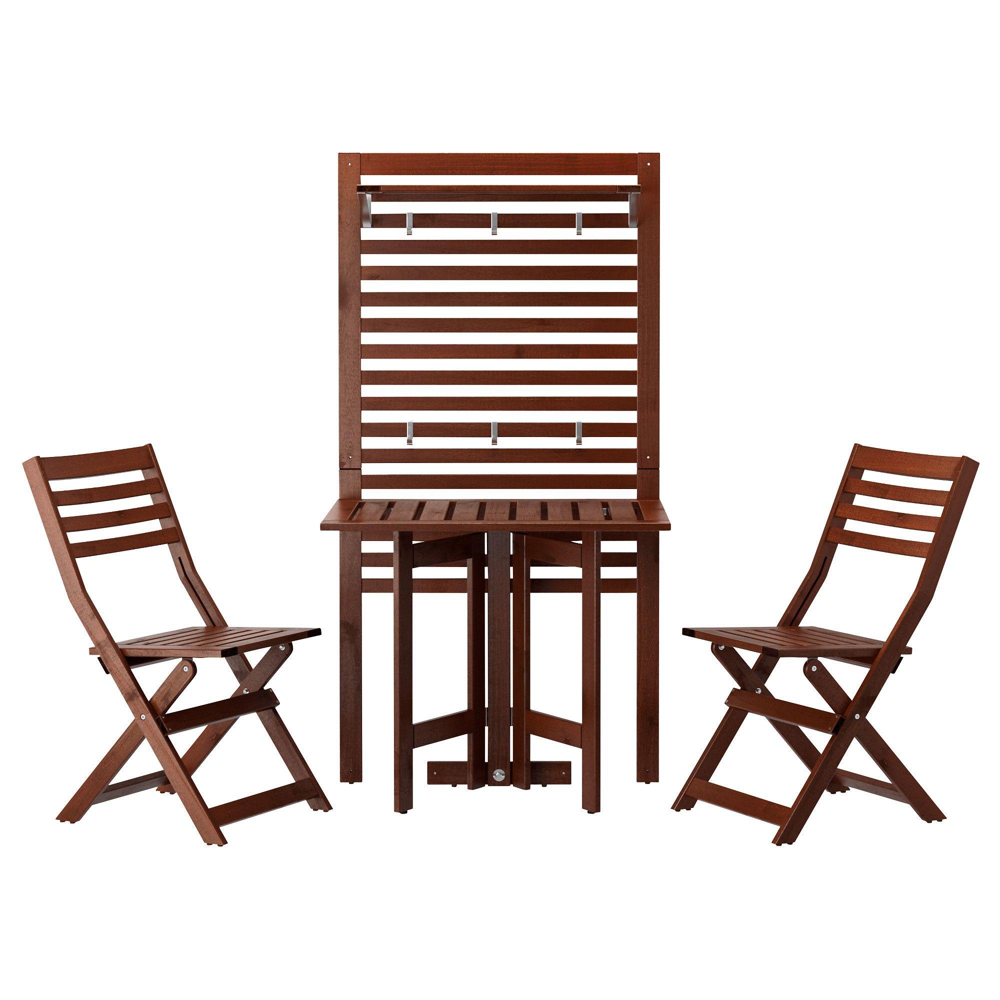 Ikea gartenmöbel äpplarö  ÄPPLARÖ, Wandpaneel+Klappti+2 Klappst, für draußen, Jetzt ...