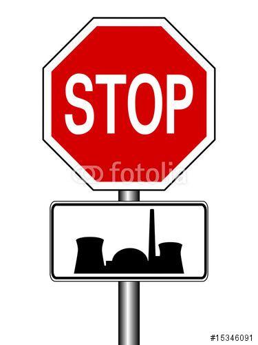 Vektor: Stop - Atomkraftwerk