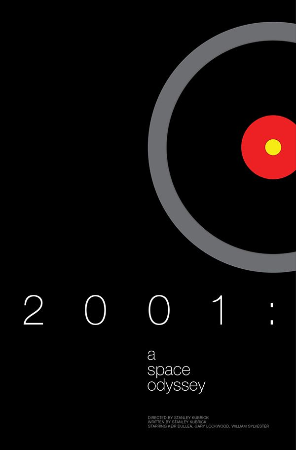 2001: A Space Odyssey (1968) ~ Minimal Movie Poster by Andrew Lynne #amusementphile