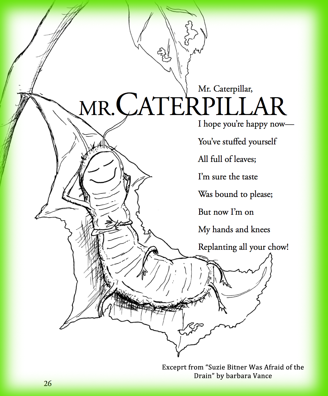 Children S Poem About Spring And Bugs And A Caterpillar Great For School And Classroom