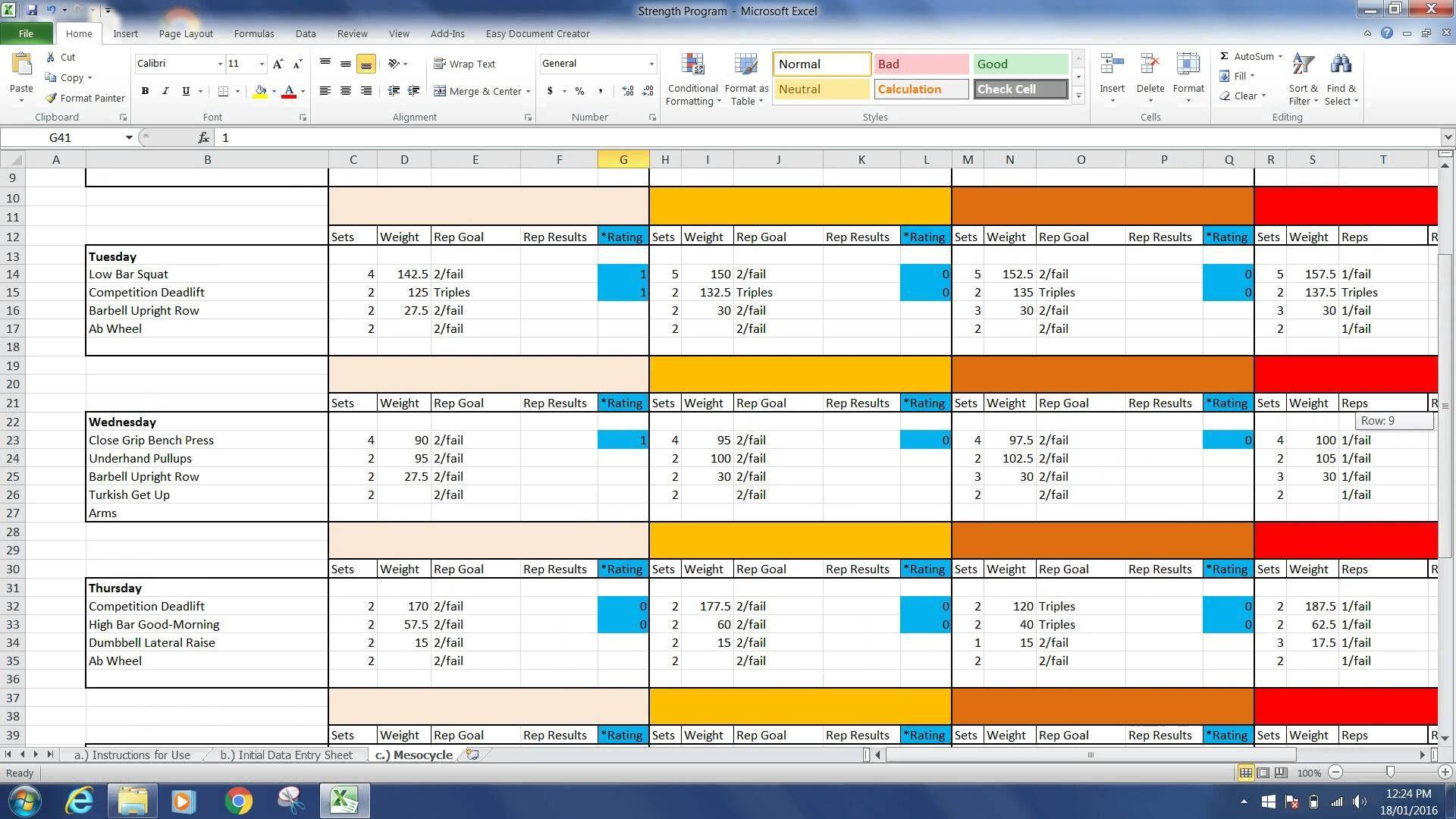 Vegan Template Screenshot Renaissance Periodization Auto Templates
