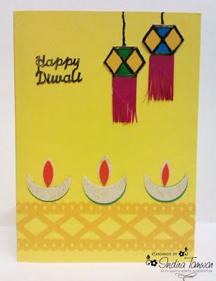Diwali Greeting Art Craft Handmade Diwali Greeting