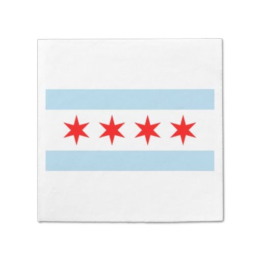 Party Linens Chicago Il: Personalized - The Flag Of Chicago Paper Napkin