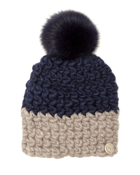 Mischa Lampert Merino Wool Beanie with Pom  8560c85ed87