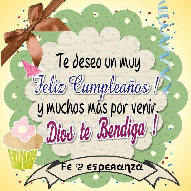 Postal de cumpleaños om Pinterest Happy birthday, Birthdays and Happy birthday quotes
