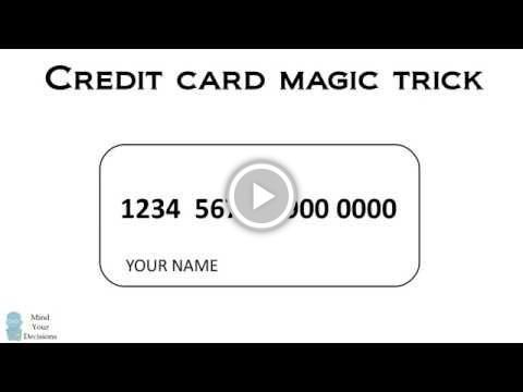 A #Secret Code in #Credit Card Numbers | Financial | Dating tips for
