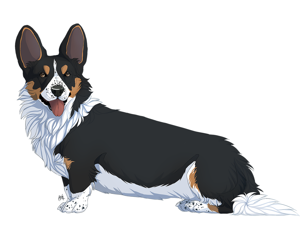 Анимешная собака картинки