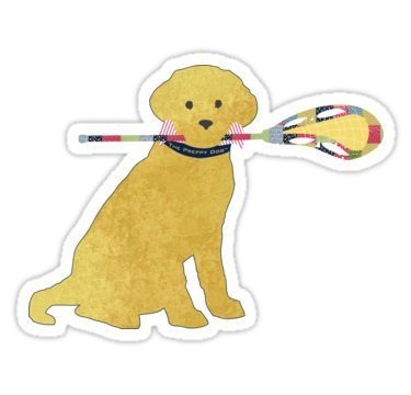 Preppy Yellow Lab Lacrosse Dog Stickers