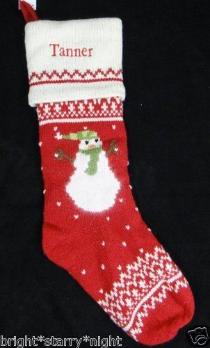 Pottery Barn Kids Alpine Knit Christmas Stocking Tanner