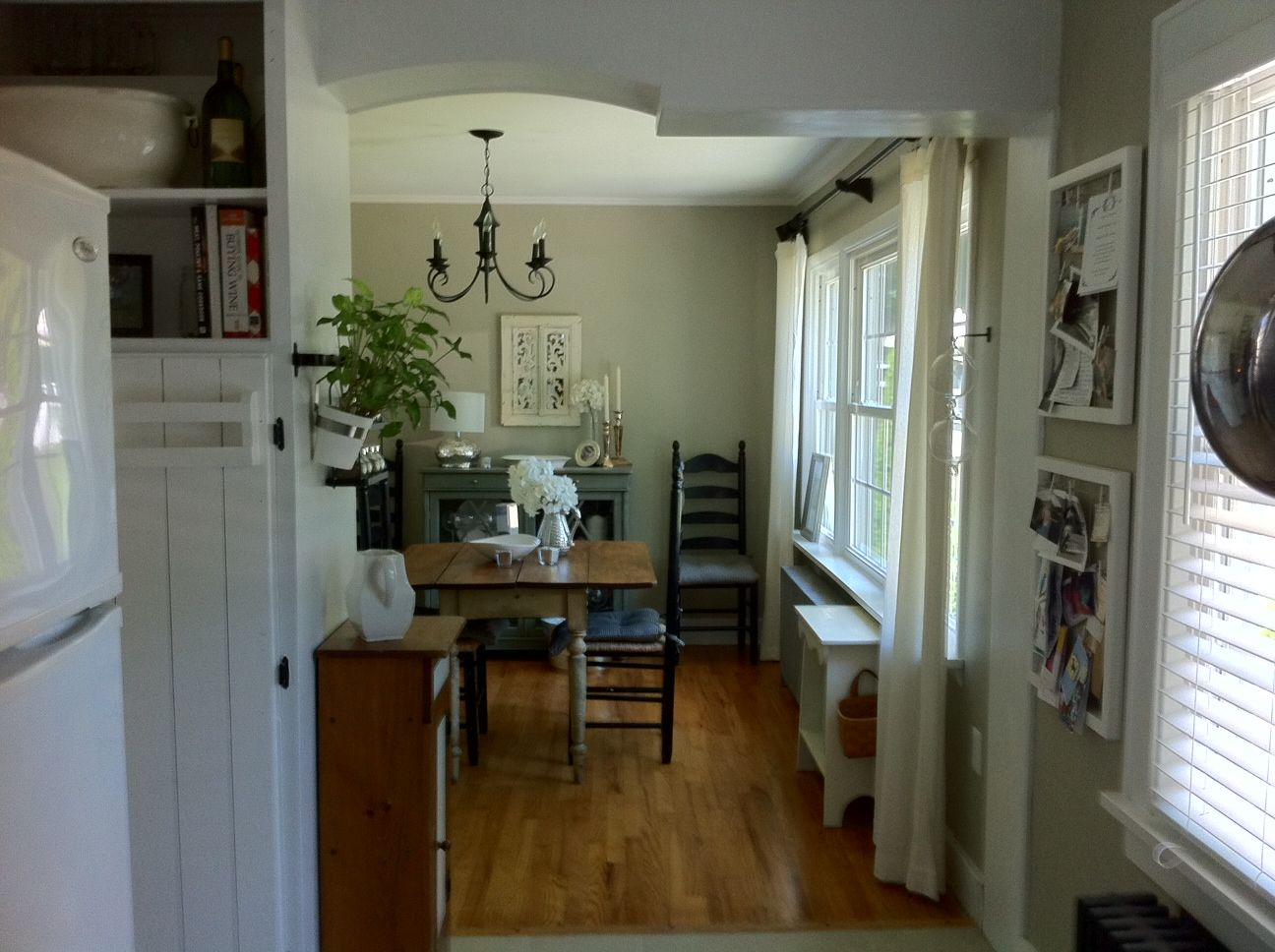 kitchen into dining room, knocked out cabinets separating ...