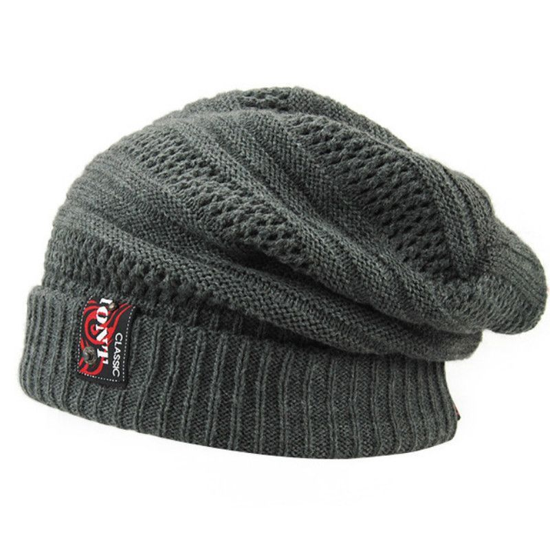 e90184dd38ae4 2016 New Knitted Mens Winter Hat for Men Wool Skullies Beanie Hats Bonnet  Hip Hop Warm